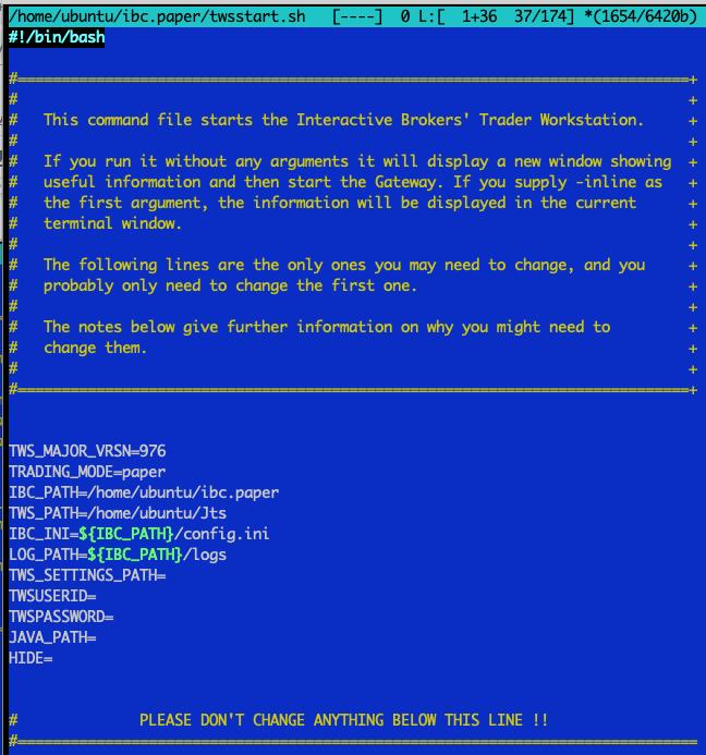 How to setup IBC (3 8 1) + TWS (build 976) on headless
